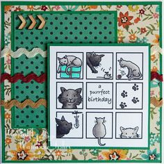 Marianne's Craftroom: Cats in Squares
