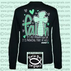 GG Christian Long Sleeve : Girlie Girl™ Originals - Great T-Shirts for Girlie Girls! LOVE!!!! Hint for a Christmas gift! ; )