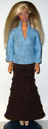 http://www.stickatillbarbie.se/ 1000! Barbie knitting patterns