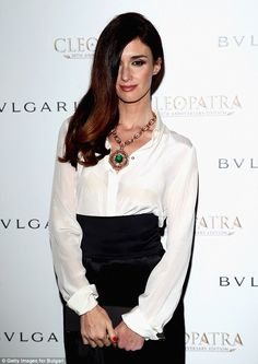 Jaw-dropping: Paz also wore some incredible jewels by Bulgari