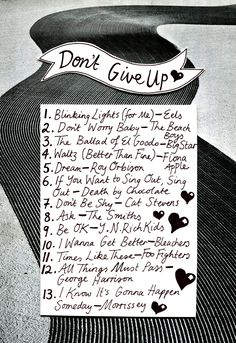 Friday Playlist: Don't Give Up