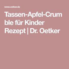 Tassen-Apfel-Crumble für Kinder Rezept   Dr. Oetker