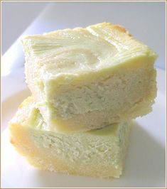 White chocolate brownies... I think I just drooled...