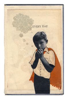 Every Day - original collage on book cover  Holly Chastain