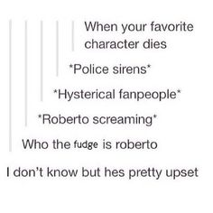 What happens when your favorite character dies