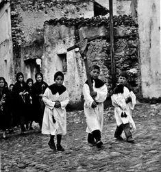 Oliena 1963,processione.