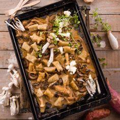 Sweet Potato Dumplings with Creamy Mushrooms #Lunch #Recipe #Dumplings #SouthAfrica