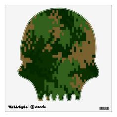 Forest Camo Custom Wall Decal Art