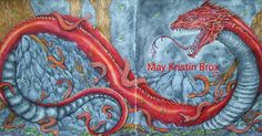 """My """"Mama Basilisk"""" from Mythomorphia by Kerby Rosanes. Colored with Derwent Inktense and Faber-Castell Polychromos.  #coloring #coloringforadults #adultcolouring #adultcoloringbook #artherapy #mindfulness #art #color #colorbook #colorbooks #mythomorphia #kerbyrosanes #bailisk #reptil #inktense #fabercastell #polychromos #derwent"""