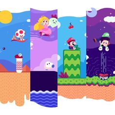 Bekijk deze Instagram-foto van @paperbeatsscissors • 1,086 vind-ik-leuks Tiny World, Super Mario Bros, Nintendo, Kids Rugs, Colorful, Instagram Posts, Inspiration, Biblical Inspiration, Kid Friendly Rugs