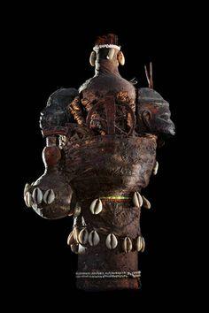 Fon Vodun sculpture, Benin   Wood, metal, gourd, glass, cowries, beads, cloth, plants, clay, sacrificial patina    Collection Anne and Jacques Kerchache