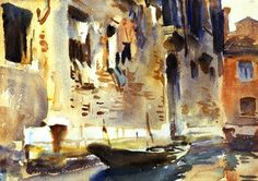 John Singer Sargent -  A Venetian Canal, circa 1902-1904 9.65 in. x 13.62 in.
