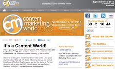 Content Marketing for Events | ContentMarketingInstitutes #contentmarketing #events