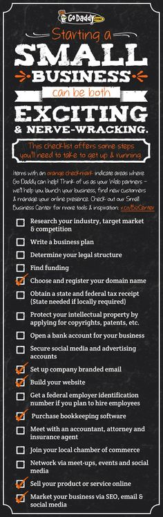 Small Business Checklist. Get your small business started today! #smallbiz http://sweetspotstartupacademy.ca/