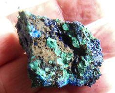 Azurit / Malachit noduli, brut, piatra naturala - Provenienta Maroc [ 22 ]