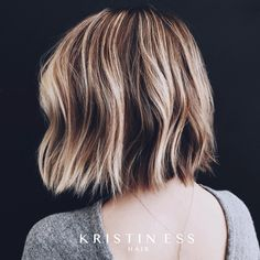 messy bob- colour and cut