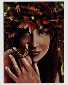 Autumn Fairy - angels, fairies, mermaids and witches cross stitch | Learning Crafts is facilisimo.com