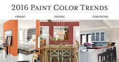 Bring a fresh new look into your home with the Pittsburgh Paints & Stains® 2016 Paint Color Trends. Color themes include Vibrant, Comforting, and Organic.