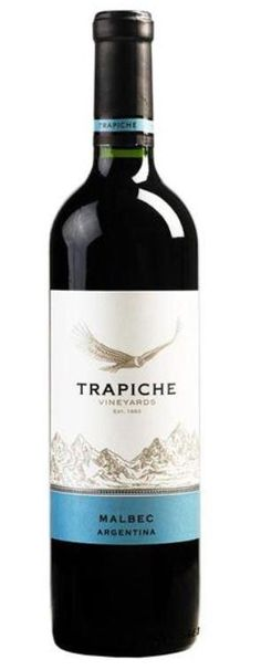 Trapiche Vineyards Malbec 2014. An excellent red for under $12. It's become a favourite this year. Nice with sweet and savoury. Excellent with Christmas dinner...and chocolate.