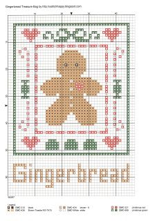 Cross Stitch Happy: Gingerbread Treasure Bag.