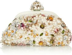 Dolce   Gabbana White Miss Dea Small Embellished Lace Clutch Vintage Purses e05c45a0774c5