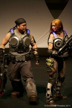 Marcus Fenix and Anya Stroud on stage at the AVCon 2011 Cosplay Competition where we placed third for 'Best Group Cosplay'.  Photo courtesy of EmAn's Media Page