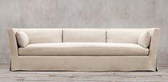 Belgian Shelter Arm | Restoration Hardware Pillows for Green sofa? And slipcover???