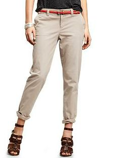 Broken-in straight khakis | Gap. fit so well! got in 2 different colors for work