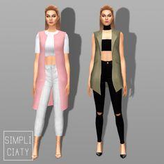 Simpliciaty: Sleeveless Waistcoat • Sims 4 Downloads Check more at http://sims4downloads.net/simpliciaty-sleeveless-waistcoat/