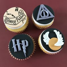 12 Harry Potter Cupcake Toppers-Fondant