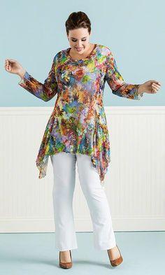 Rayna Tunic / MiB Plus Size Fashion for Women / Summer Fashion http://www.makingitbig.com/product/5310