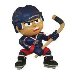 Columbus Blue Jackets NHL Lil Teammates Vinyl Slapper Sports Figure (2 3/4 Tall) (Series 2)  LIL TEAMMATES are the hot new collectible toy from The Party Animal. Made of Vinyl with full true colors. Lil' Teammates are not player specific, and have turable heads. Collect your today! Ages 3 and UP