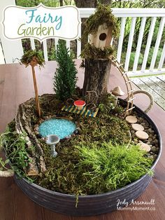 What little girl, or big girl, wouldn't love their very own magical fairy garden? Today I'll share with you how we made an affordable fairy garden.