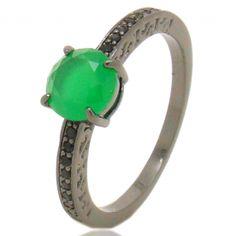 anel semi-joia pedras rosa