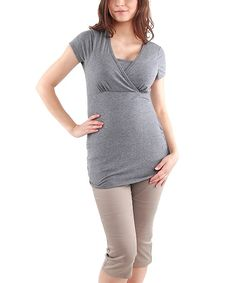 Light Gray Bonnie Maternity Top - Women