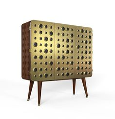 Made in solid walnut wood and brass with knurled details‐heavily inspired in our fixtures