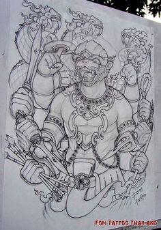 Khmer Tattoo, Thai Tattoo, Baby Tattoos, Body Art Tattoos, Krishna Tattoo, Cambodian Art, Art Minimaliste, Thailand Tattoo, Graffiti Characters