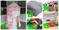 A round-up of 15 easy projects to sew and give as gifts for Christmas