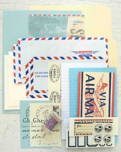 Airmail/Par Avion Serendipity Kit from Stampington. Very much like.