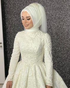 Dress Outfits Formal The Bride - Dress Hijab Wedding Dresses, Bridal Dresses, Prom Dresses, Hijab Bride, Wedding Outfits, Hijab Fashion, Fashion Dresses, Wedding Hair Colors, Muslim Brides