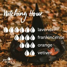 Try this Witching Hour diffuser blend! Let us know what you thin Fall Essential Oils, Essential Oil Perfume, Essential Oil Diffuser Blends, Essential Oil Combinations, Doterra Essential Oils, Dark Makeup, Young Living, Apothecary, Soaps