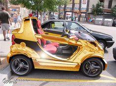 Solid gold smart #smartcar #crossblade Smart Crossblade, Smart Car Body Kits, Skateboard Wheels, Smart Fortwo, Beach Tent, Car Mods, Street Smart, Antique Cars, Liquid Gold