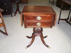 antique duncan phyfe claw foot drop leaf lamp table
