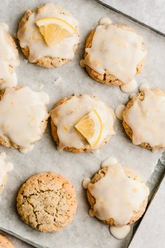 Sub Sugar Gorgeous paleo lemon poppyseed sugar cookies made with a mix of nutritious coconut flour and almond flour then topped with an easy, sweet & zesty lemon glaze. The perfect healthy spring treat that's gluten, grain & dairy free! Paleo Dessert, Dessert Oreo, Desserts Keto, Dessert Recipes, Yummy Recipes, Lemon Cookies, Sugar Cookies Recipe, Cookie Recipes, Baking Recipes