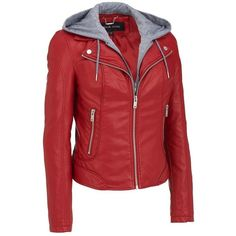 Black Rivet Womens Plus Size Hooded Center Zip Faux-Leather Cycle... ($54) ❤ liked on Polyvore featuring outerwear, jackets, imitation leather jacket, plus size faux leather jacket, rivet jacket, vegan leather jacket and plus size jackets