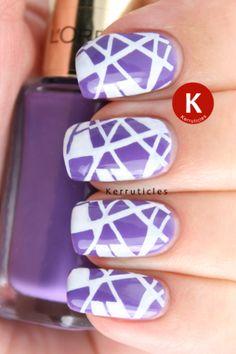 L'Oreal Amazon Flower stamped with Konad special polish in White, using Fauxnad plate M64