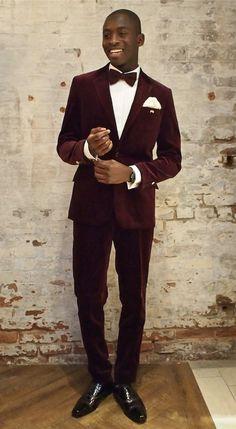 0dc4c6e9e42 Latest Coat Pant Designs Burgundy Velvet Formal Custom Wedding Suits For  Men Bridegroom Slim Fit Jacket 2 Pieces Tuxedo