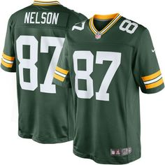 d08c2542630 Nike NFL Green Bay Packers (Jordy Nelson) Men s Football Home Limited Jersey  Size Large (Green) - Clearance Sale