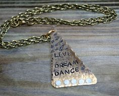 Necklaces Handmade brass hand cut messages by debsdesigns401 on Etsy