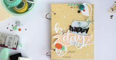 kushi: mini album scrapbooking | happy b-day + freebie  #scrapbooking #minibook #minialbum #kkushi #scrap #happybirthday